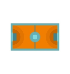 Futsal or indoor soccer field icon flat style vector