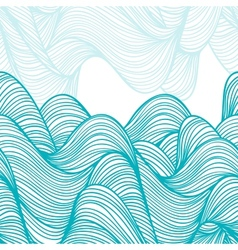 Abstract hand-drawn waves background vector image