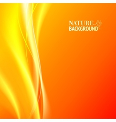 Tender orange light abstract background vector