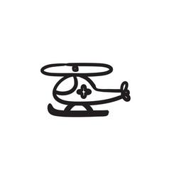 Air ambulance sketch ico vector