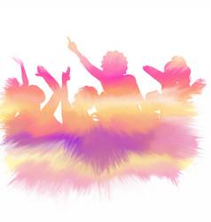Watercolour party crowd vector