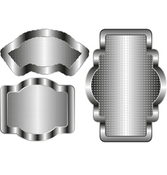 silver banners vector image