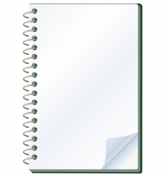 Notepad object vector