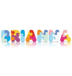 Brianna written with alphabet puzzle vector