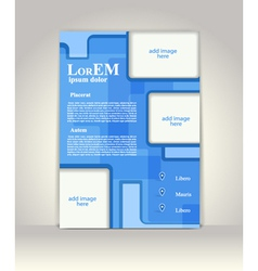 Flyer brochure or magazine cover template vector
