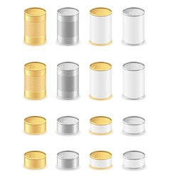 Metal tin can 05 vector