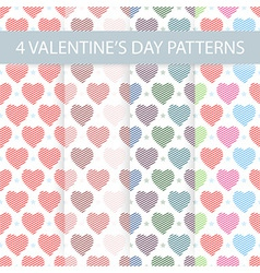 Seamless valentines day patterns vector
