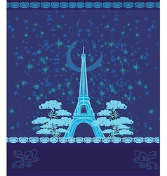 Paris in night vector