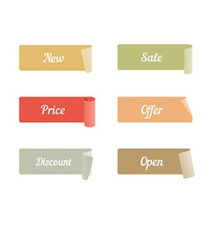 Set of Colored Adhesive Scotch Tapes with Text New vector image