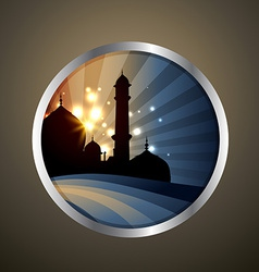 Islamic label vector