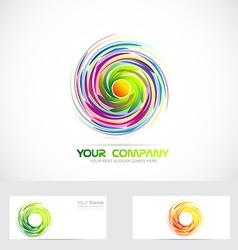 Swirl whirl whirlpool logo vector