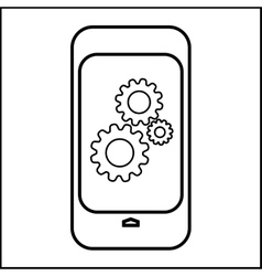 Modern smart phone line icon vector