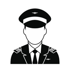 Captain of the aircraft icon vector