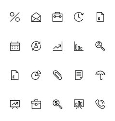 Trade outline icons 1 vector