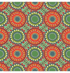 Seamless vintage retro pattern orange textile vector