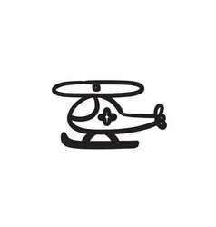 air ambulance sketch ico vector image