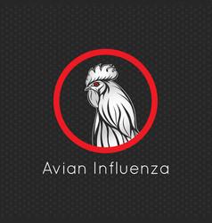 Avian influenza logo icon vector