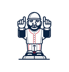 baseball cartoon player vector image