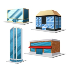 Building decorative set vector image vector image