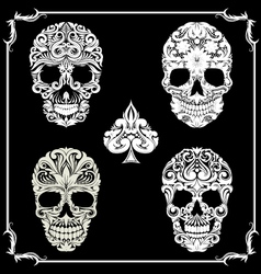 Bundle Skull Ornamental vector image vector image