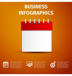 Business infographics icon calendar red icon vector