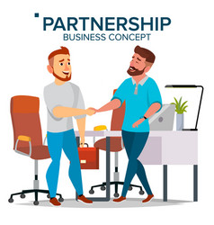 Business partnership concept two business vector