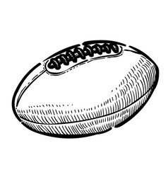 Cartoon image of rugby ball vector