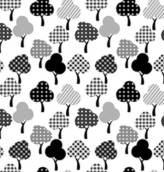 Cartoon patterned trees vector image vector image