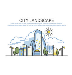 city landscape template with text vector image vector image