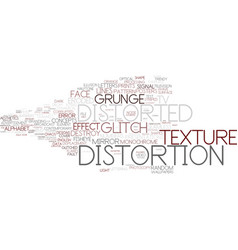 Distortion word cloud concept vector