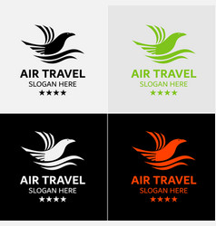 eagle travel logo template vector image