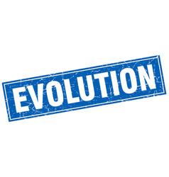 Evolution square stamp vector