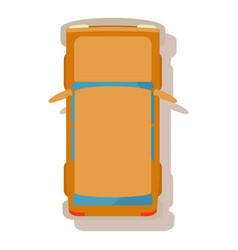 Family car icon cartoon style vector