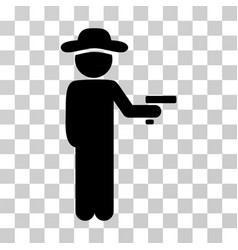 Gentleman robber icon vector
