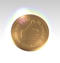 Golden social currency concept vector image