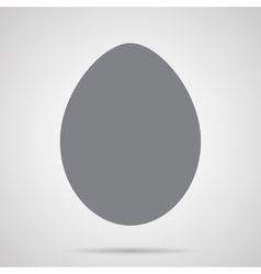 Gray Easter Egg Icon vector image vector image