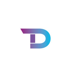Letter t d logo icon design template elements vector