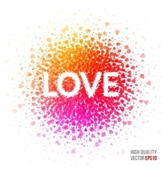 Love beautiful design element for greeting card vector image