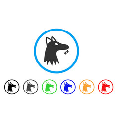 mad dog rounded icon vector image