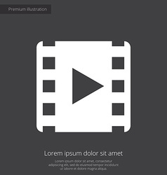 Media premium icon white on dark background vector