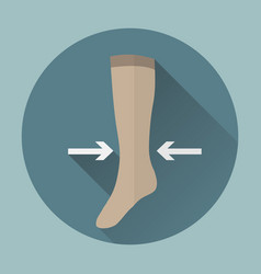 medical compression stockings vector image vector image