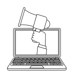 Portable loudspeaker icon image vector