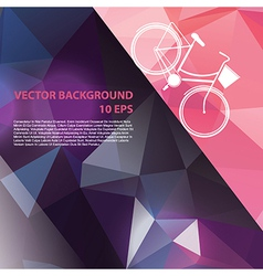 Summer poster with bicycle vector image