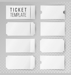 ticket template set modern mock up wedding vector image
