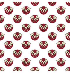 Tomahawk axe indian color seamless pattern vector