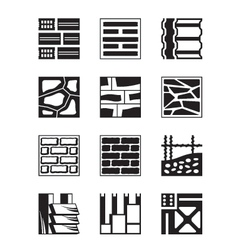 Various construction materials vector