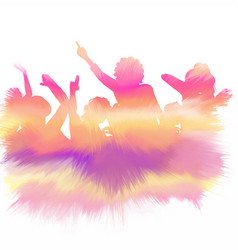 Watercolour party crowd vector