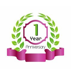 1 year birthday celebration 1th anniversary vector