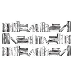 Bookcase with lots of books vector image