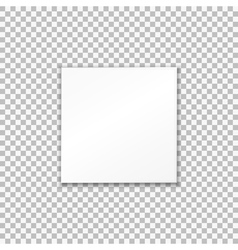 Empty white paper plate on transparent background vector